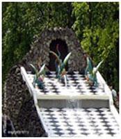 """Cascade """"Chess mountain"""""""