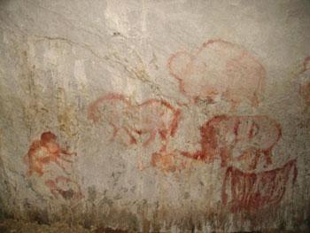 The drawings of primieval people in Shulgantash
