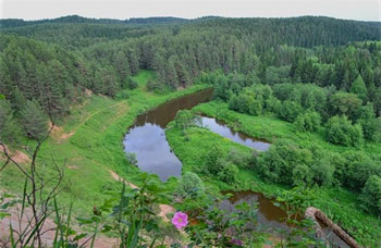 The Cheptsa river