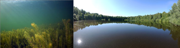 The Lezhninskoye Lake, the Shaitan Lake