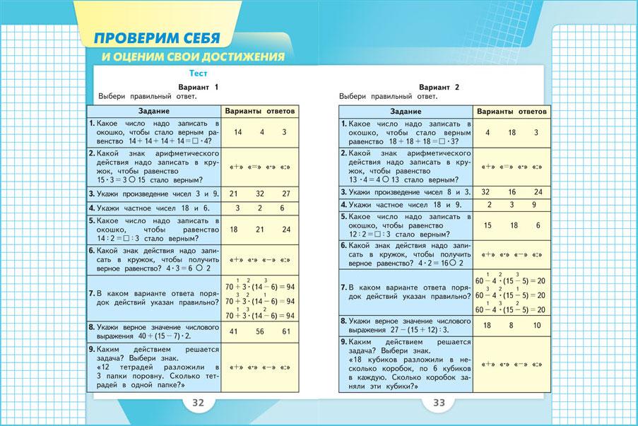 Система учебников «школа россии» моро м. И. , бантова м. А.