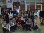 С учениками и преподавателями Якутской городской национальной гимназии