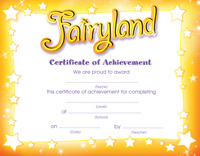 Fairyland Certificate
